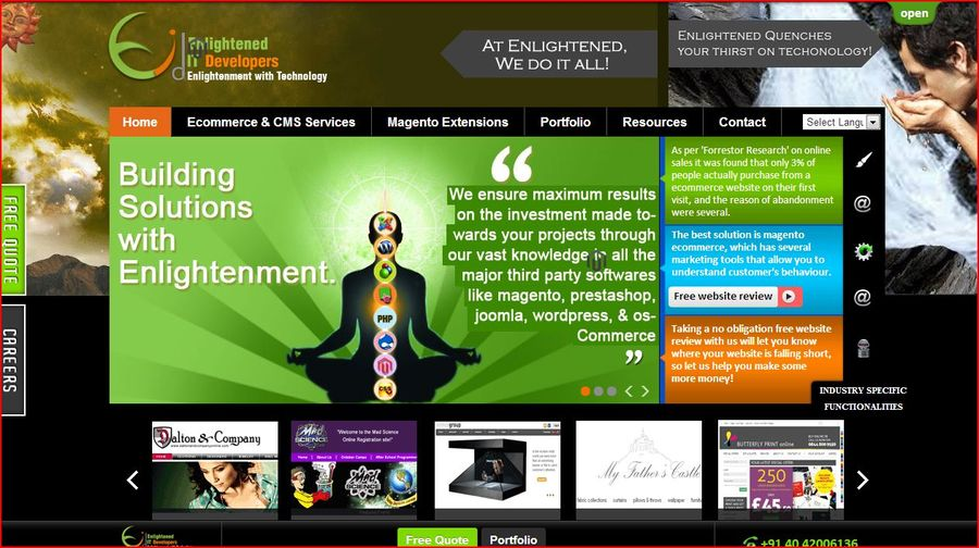 A great web design by Enlightened IT Developers, Hyderabad, India: