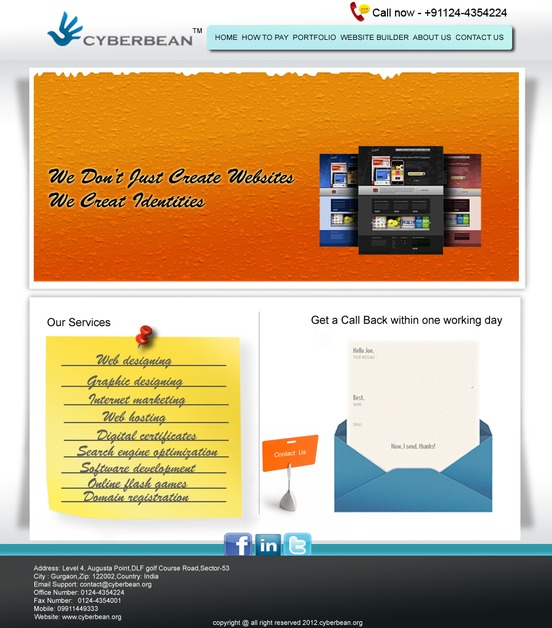 A great web design by Cyberbean, Delhi, India: