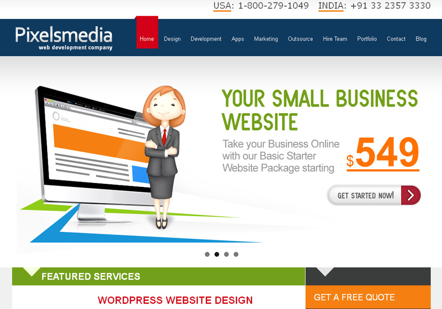 A great web design by Pixelsmedia Technologies, Kolkata, India: