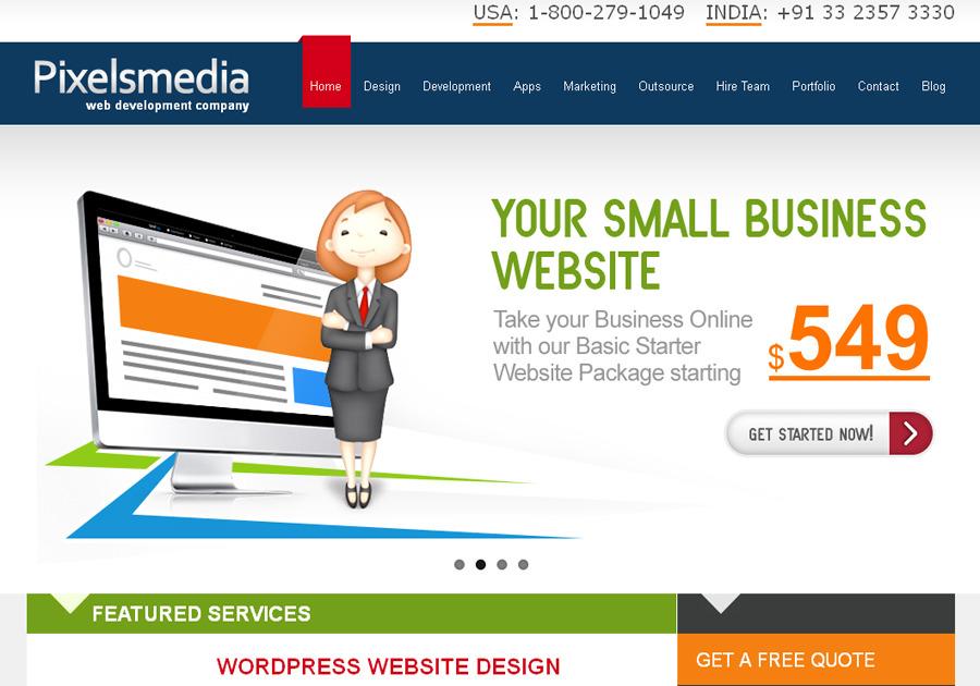A great web design by Pixelsmedia Technologies, Kolkata, India: