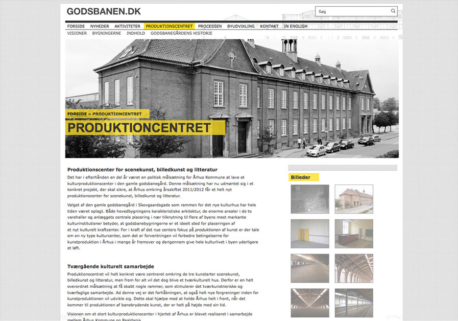 A great web design by Ministeriet for Sandhed, Aarhus, Denmark: