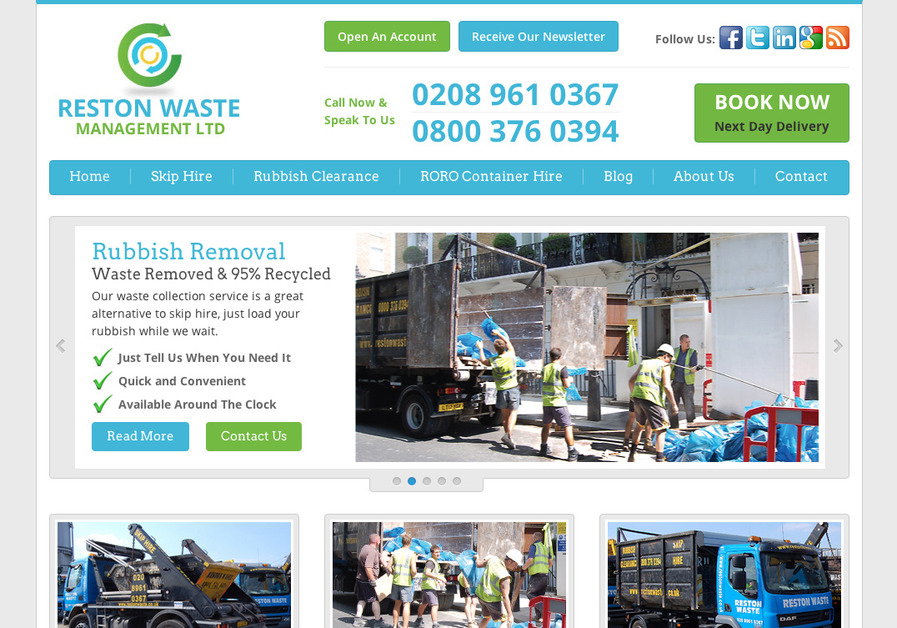 A great web design by Reston Waste, London, United Kingdom: