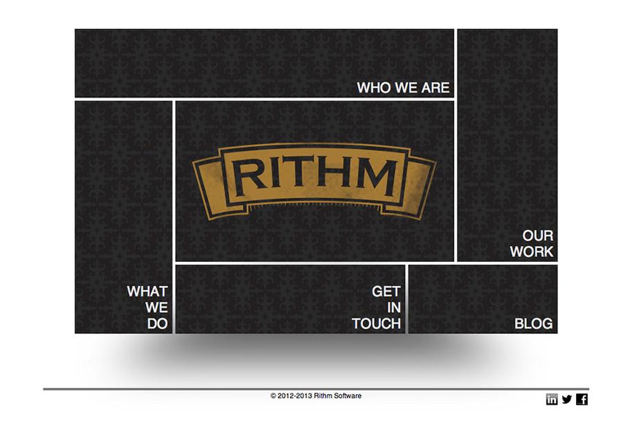 A great web design by Rithm Software, Seattle, WA: