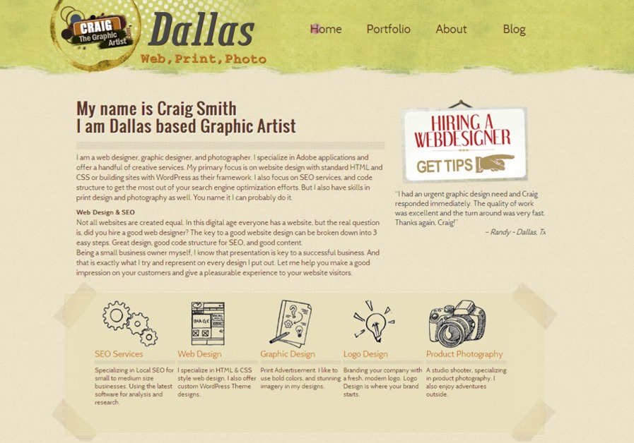 A great web design by Webbernaut, Dallas, TX: