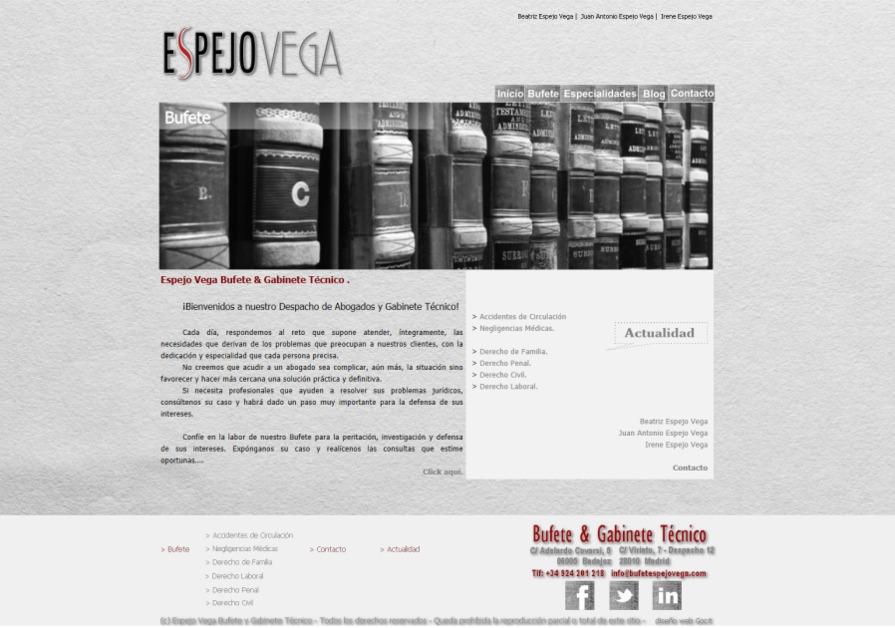 A great web design by GOCIT, Badajoz, Spain: