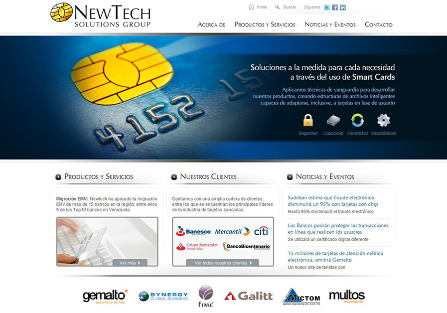 A great web design by BMT, Caracas, Venezuela: