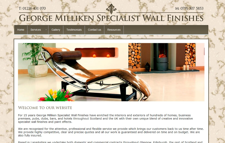 A great web design by Listed Website Design, Glasgow, United Kingdom: