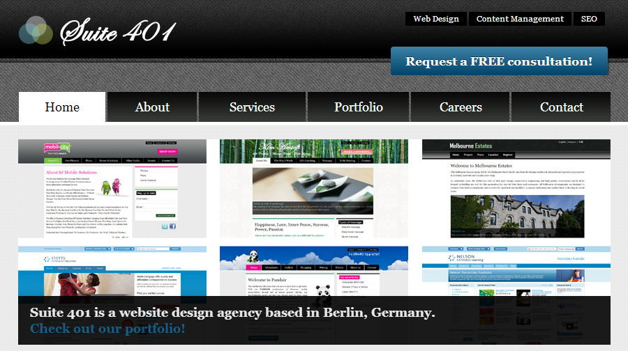 A great web design by Suite 401 Web Design, Berlin, Germany: