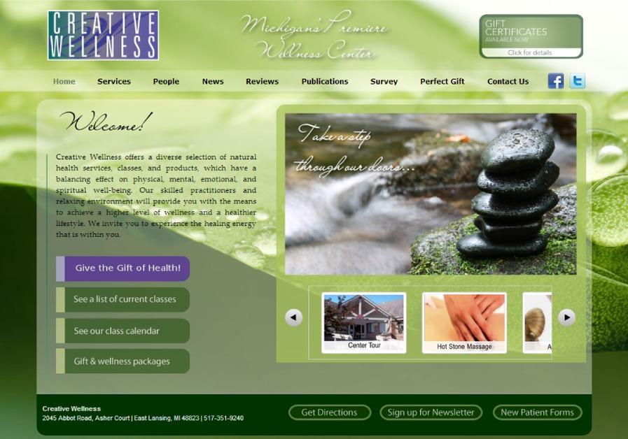 A great web design by WebCaliber, Bloomington, IN: