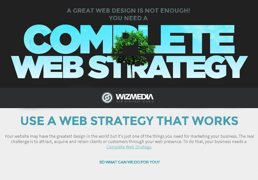 A great web design by WIZMEDIA, Manila, Philippines: