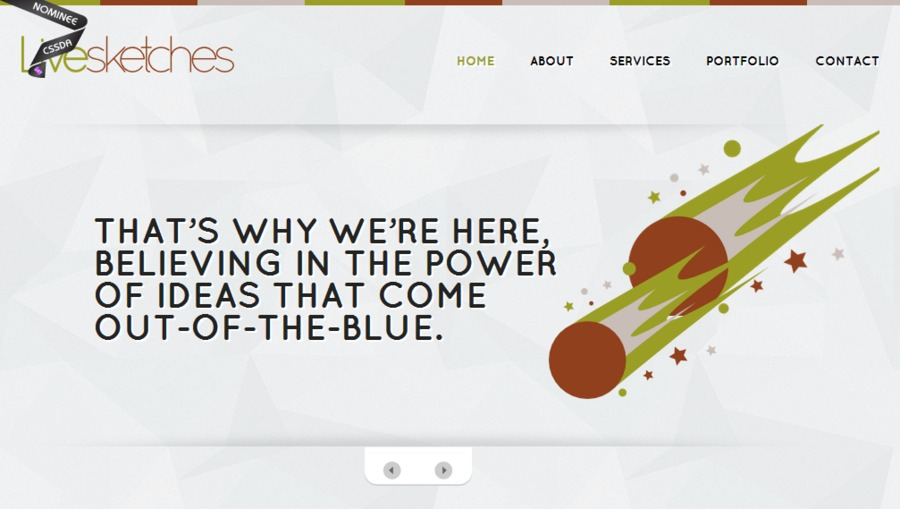 A great web design by Livesketches, Kochi, India: