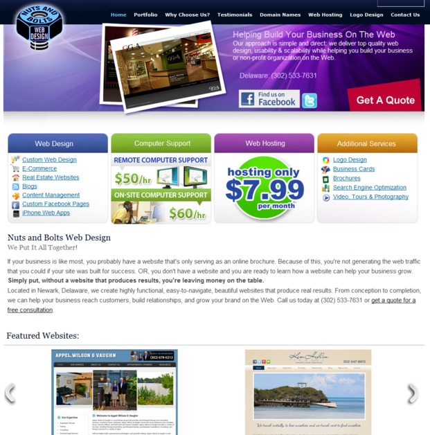 A great web design by Nuts And Bolts Web Design, New York, NY: