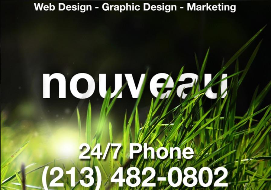 A great web design by nouveau, Los Angeles, CA: