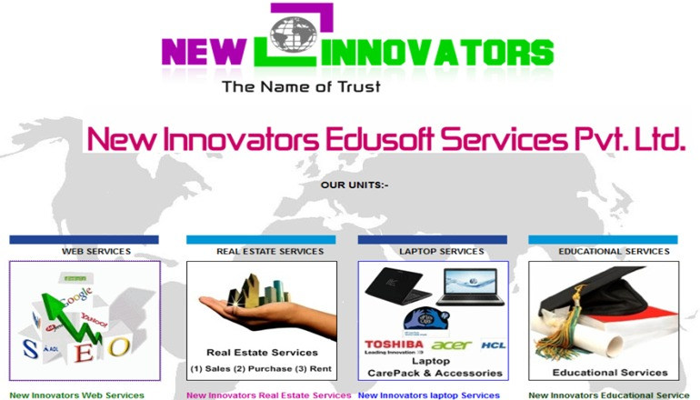 A great web design by New Innovators Edusoft Services Pvt. Ltd., New Delhi, India: