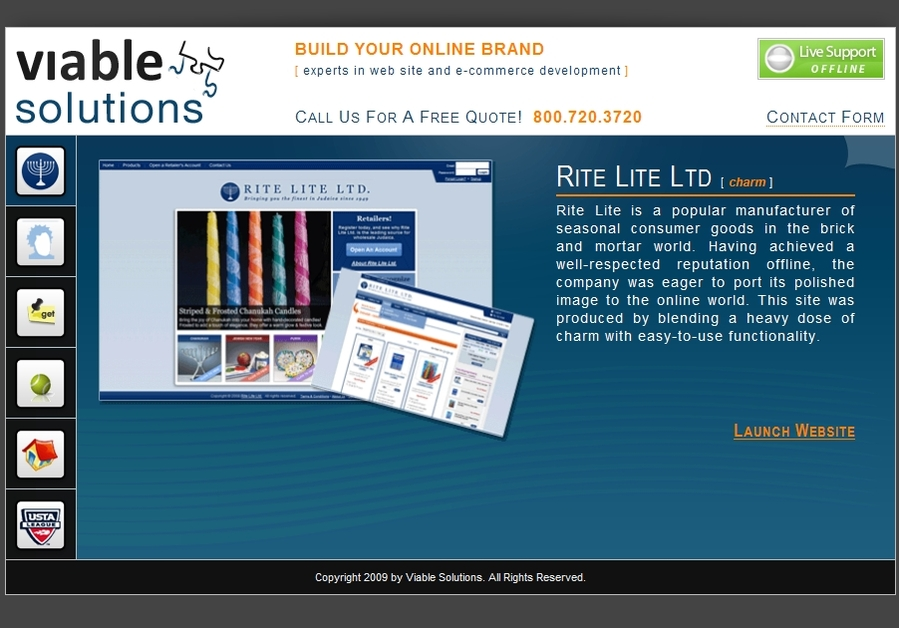 A great web design by Viable Solutions, New York, NY: