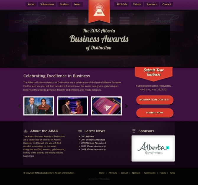 A great web design by Thinkmojo, Edmonton, Canada: