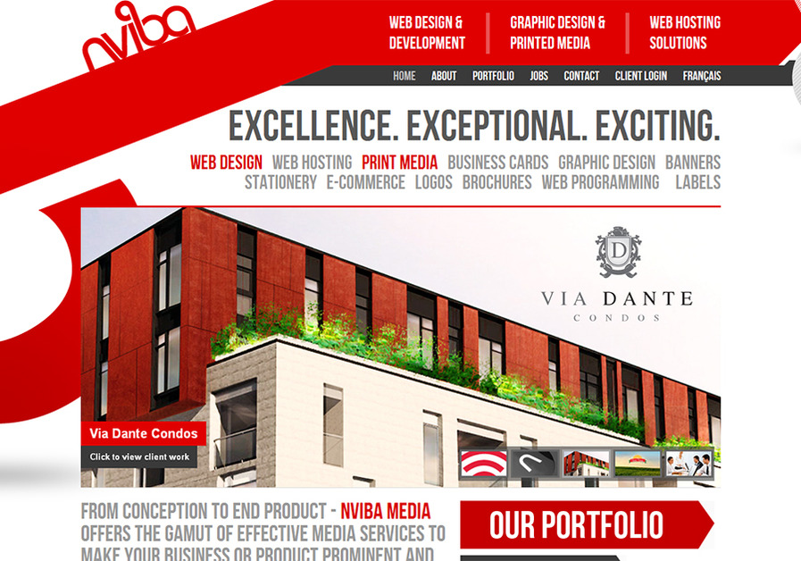 A great web design by NVIBA Media, Montreal, Canada: