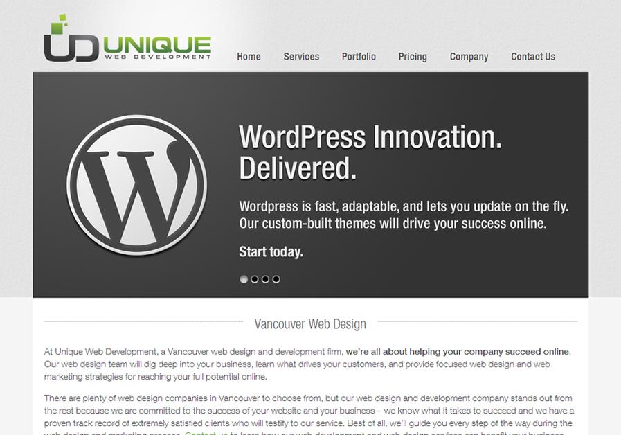 A great web design by Unique Web Development, Vancouver, Canada: