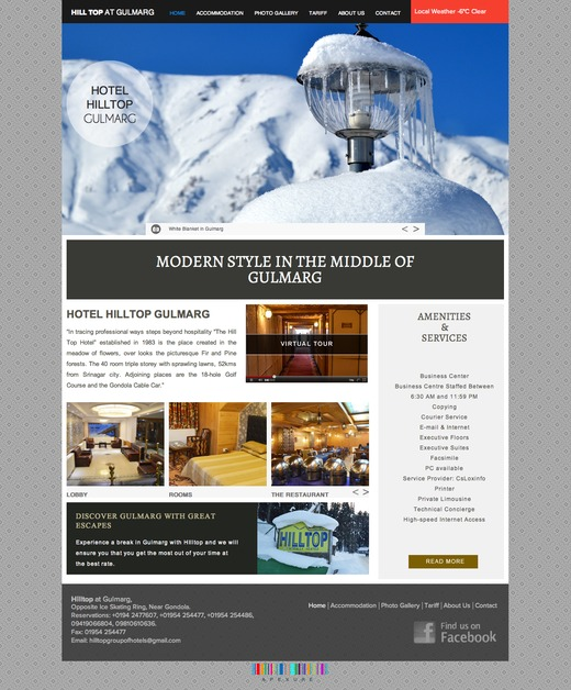 A great web design by Apexure Kashmir, Srinagar, India: