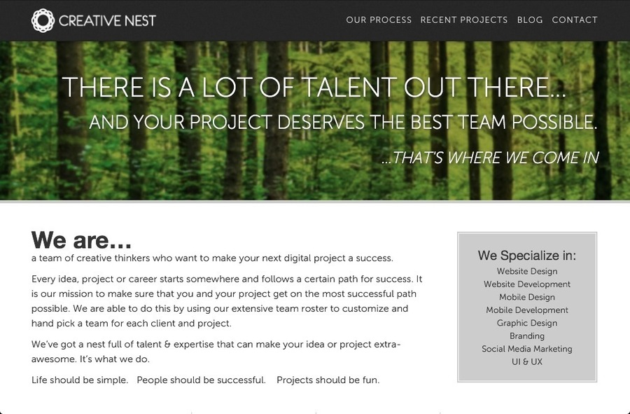 A great web design by Creative Nest, Seattle, WA: