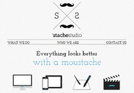 A great web design by 'Stache Studio, Copenhagen, Denmark: