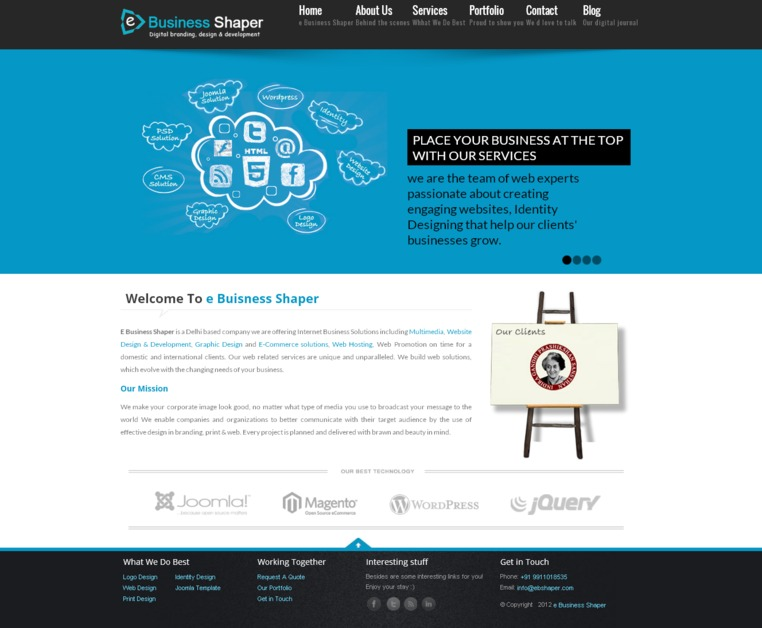 A great web design by e Business Shaper, New Delhi, India: