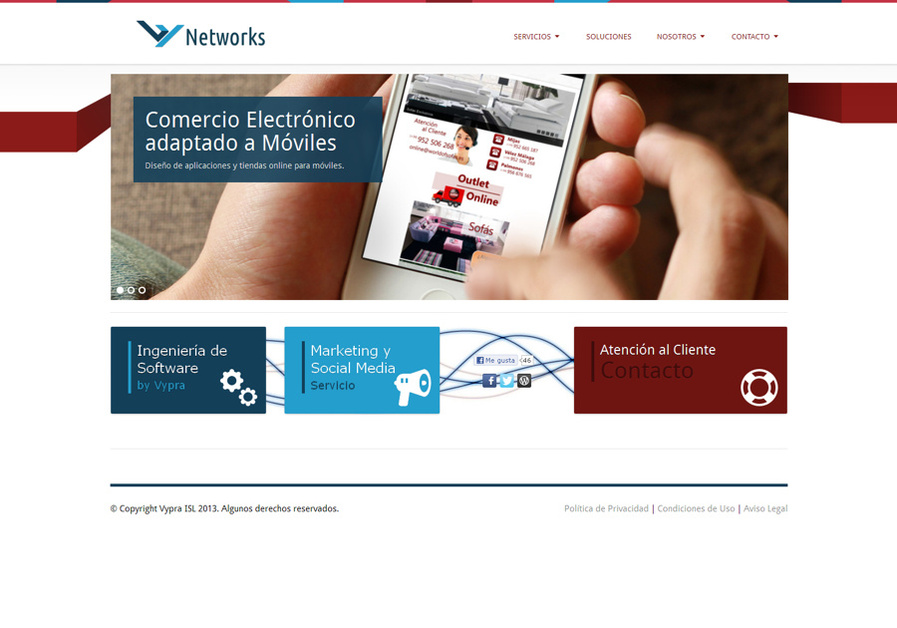 A great web design by Vypra Networks, Malaga, Spain: