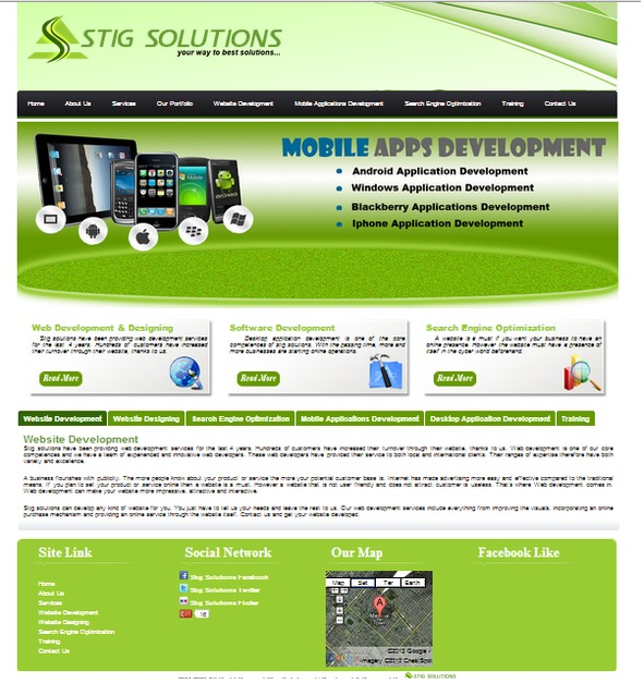 A great web design by Stig Solutions, Cologne, Germany: