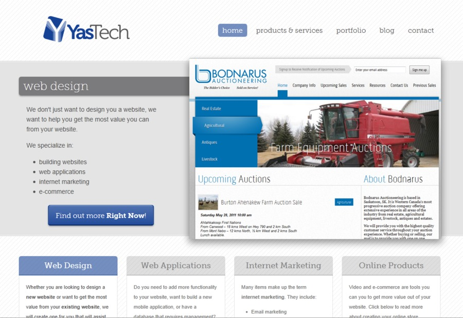 A great web design by YasTech Developments, Saskatoon, Canada: