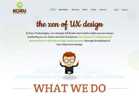 A great web design by Koru Technologies, Pune, India: