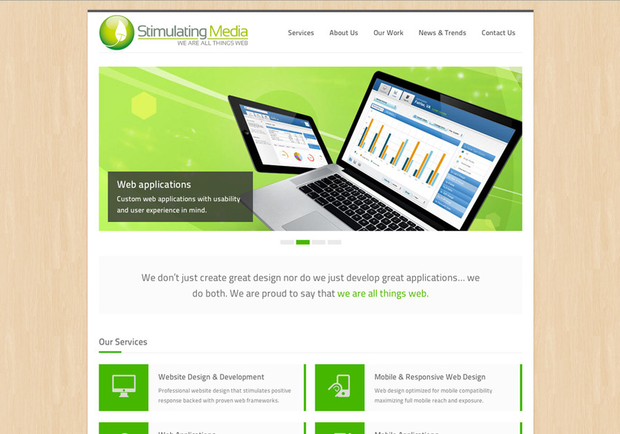 A great web design by Stimulating Media, LLC, Baltimore, MD: