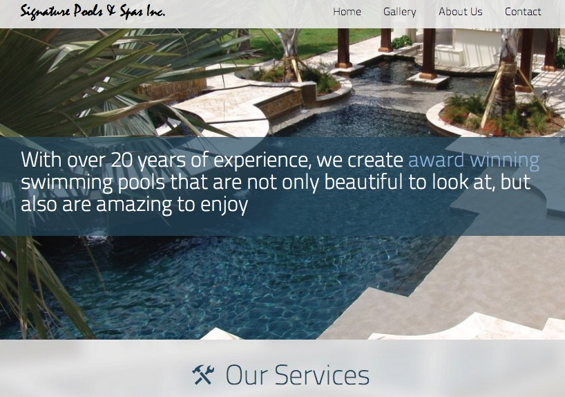 A great web design by Ryan Taggart Designs, Jacksonville, FL: