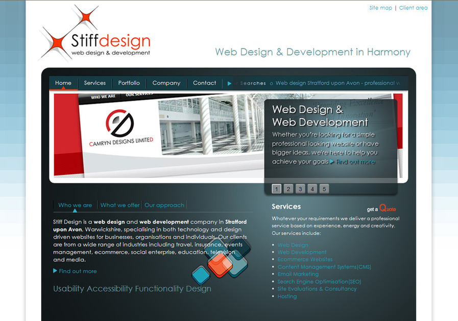 A great web design by Stiff Design, Stratford upon Avon, United Kingdom: