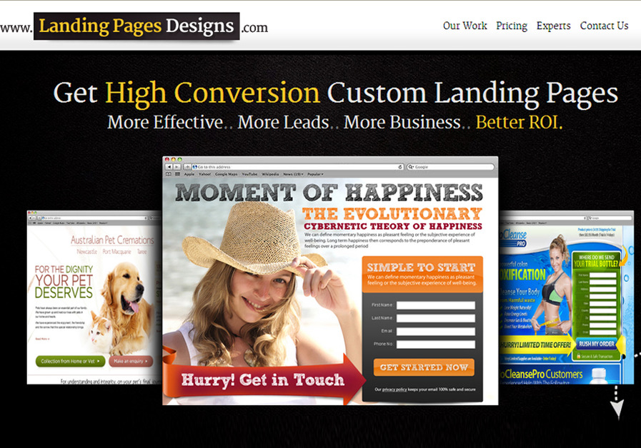 A great web design by www.landingpagesdesigns.com, Chandigarh, India: