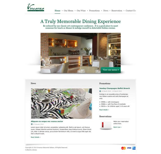 A great web design by eSense Web Design Agency, Kuala Lumpur, Malaysia: