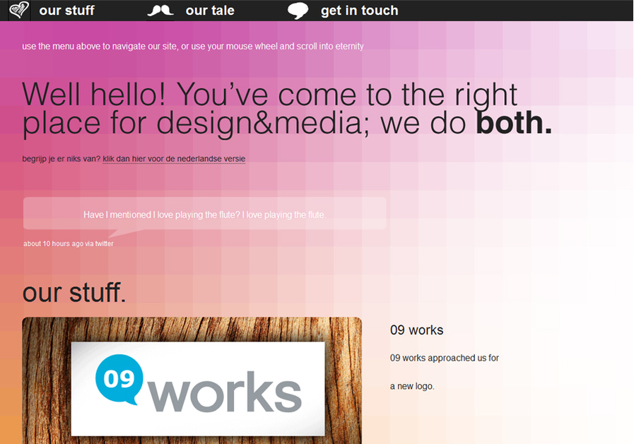 A great web design by both. design&media, Hoogeveen, Netherlands: