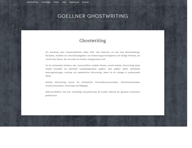 A great web design by Wissenschaftliches-Ghostwrting.de, Wuppertal, Germany: