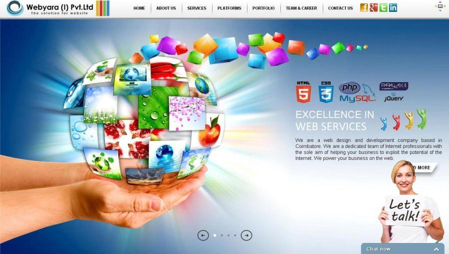 A great web design by Webyara (I) Pvt Ltd, Coimbatore, India: