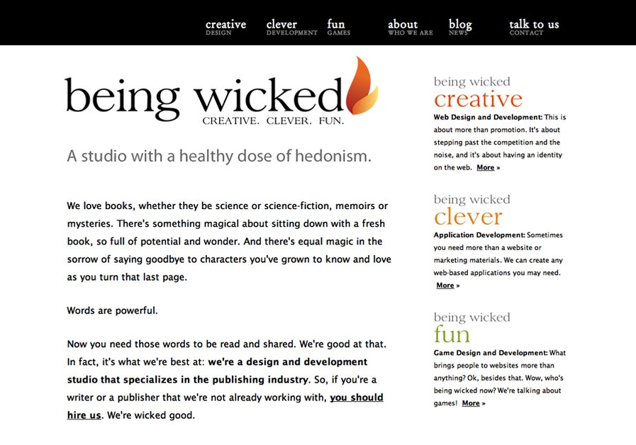 A great web design by Being Wicked, Oxford, United Kingdom: