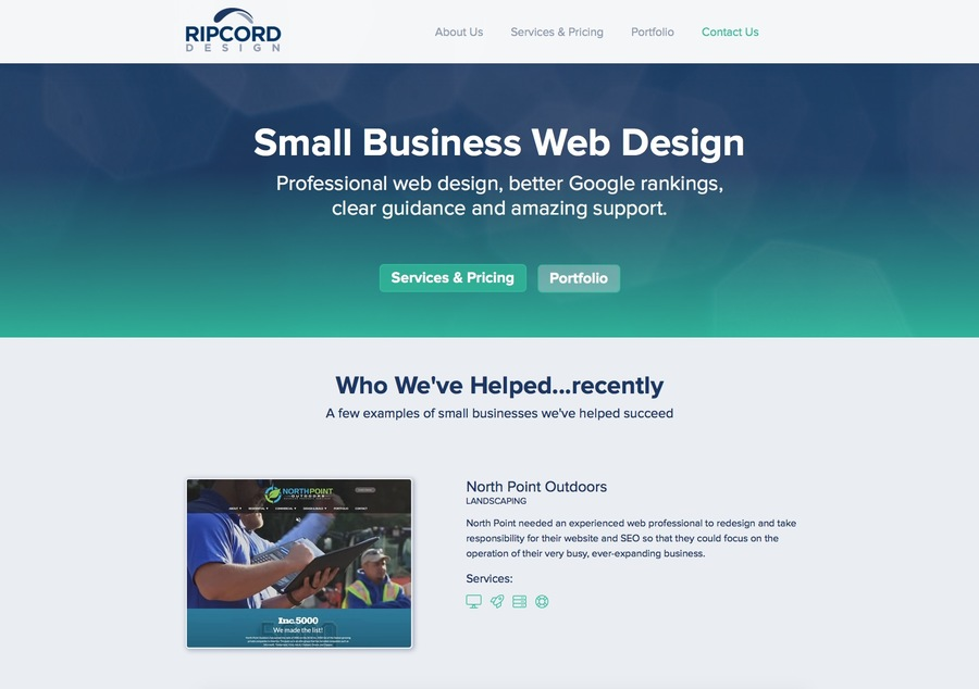 A great web design by Ripcord Design, Boston, MA:
