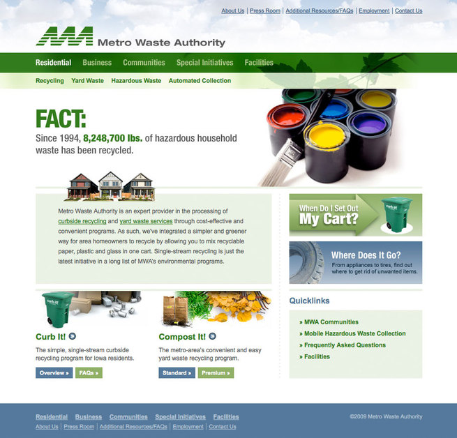 A great web design by Flynn Wright, Des Moines, IA: