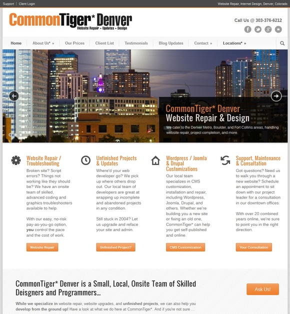 A great web design by CommonTiger* Denver, Denver, CO: