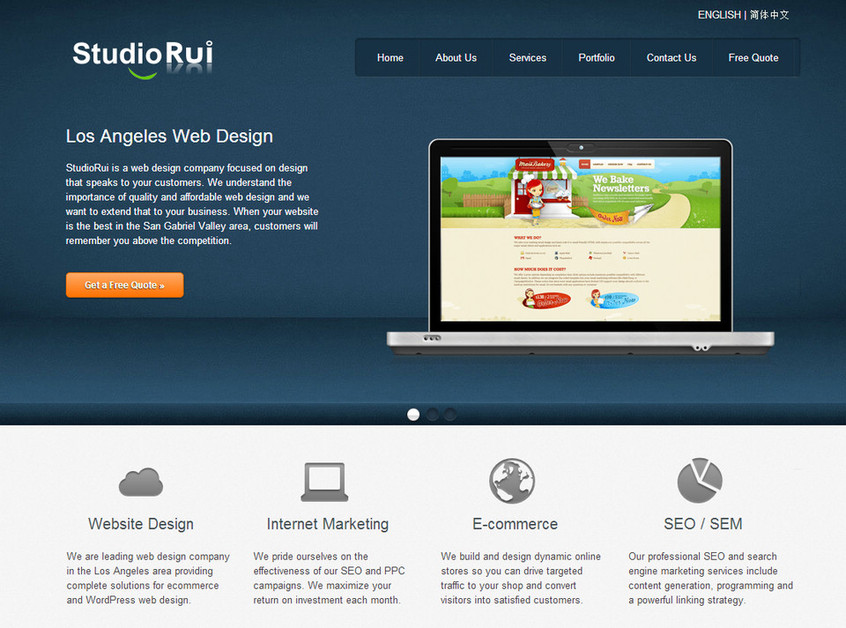 A great web design by StudioRui Webdesign, Los Angeles, CA: