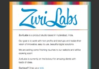 A great web design by ZuriLabs, Hyderabad, India: