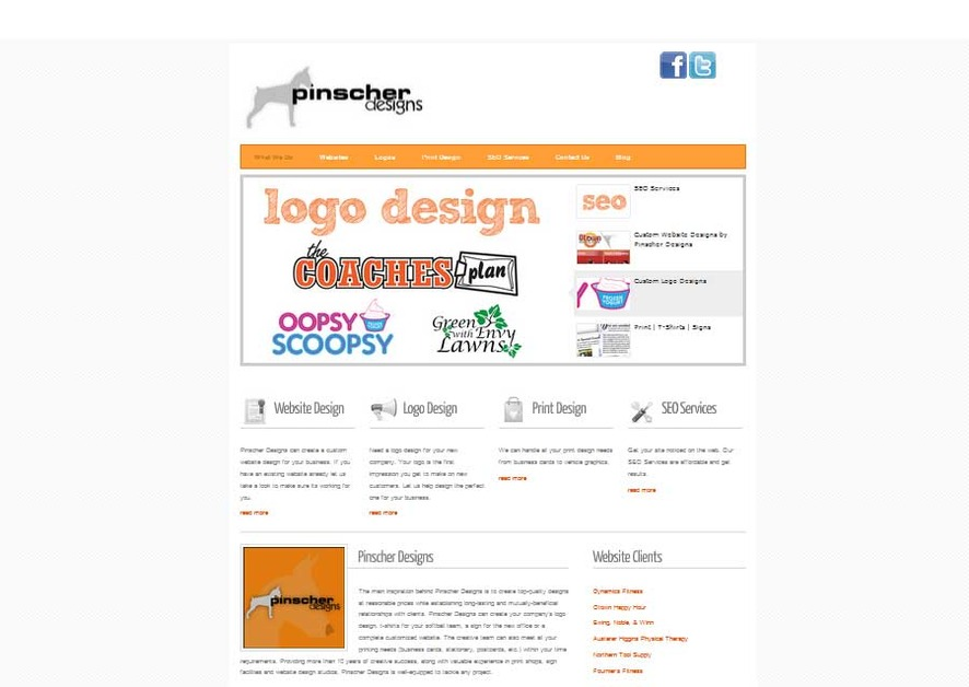 A great web design by Pinscher Designs, Portland, ME: