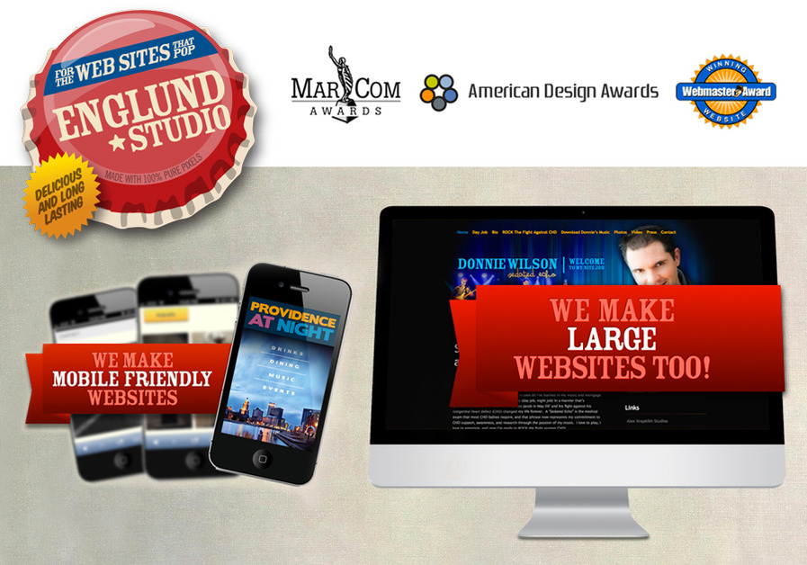 A great web design by Englund Studio, Providence, RI: