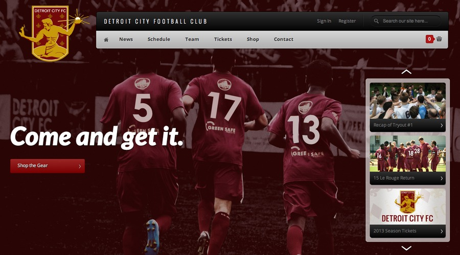 A great web design by Josh Frank, Detroit, MI: