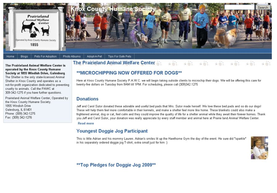 A great web design by D. A. Shaver Web Design, Galesburg, IL: