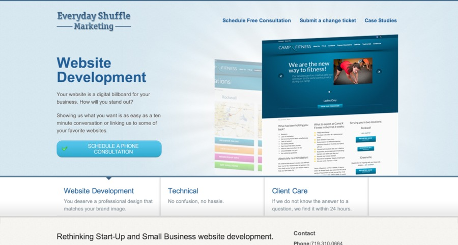 A great web design by Everyday Shuffle Marketing, Austin, TX: