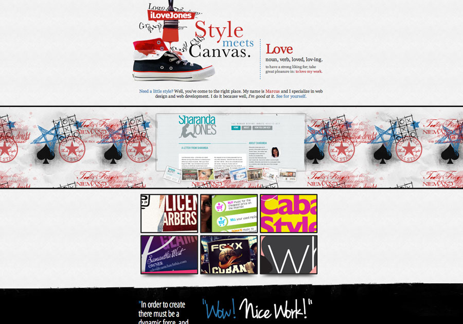 A great web design by iLoveJones.com, Dallas, TX:
